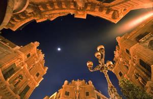 Palermo: Quattro Canti at Night by zeitspuren