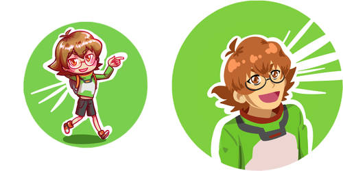 Pidge Buttons by Tacotits