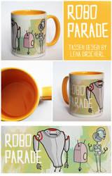 Cup Design - Robo Parade by LenupetComics