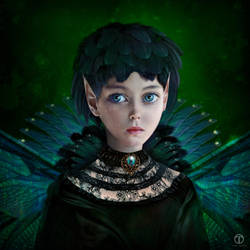 Little dark fae by theogroen