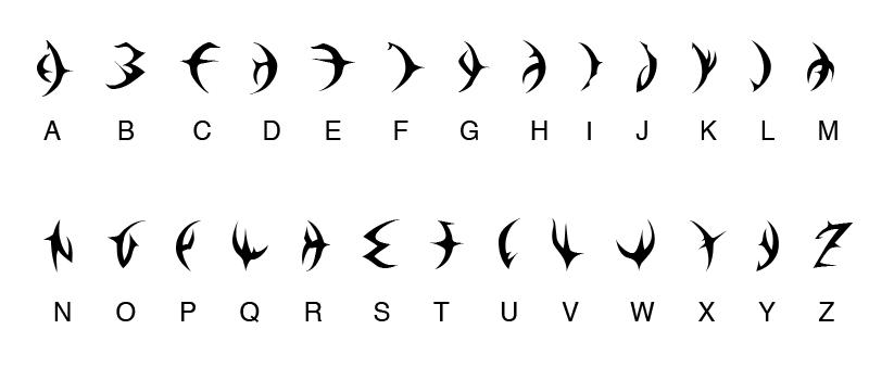 Dragon Booster Alphabet. by Sami-SDGForce