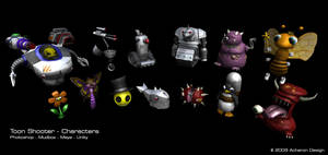 Toon Game Characters by thadeemon