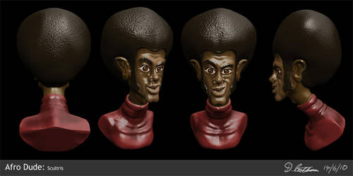Afro Dude - Quick sculpt by thadeemon