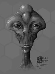 Wide Eyed Alien Sketch by thadeemon