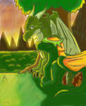 DragonCave-Tarkie and Melonis- by RedtheGamr