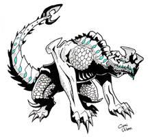 Pacific Rim Kaiju: Otachi (finished) by camiurban