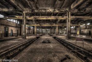 Train Garage by stengchen