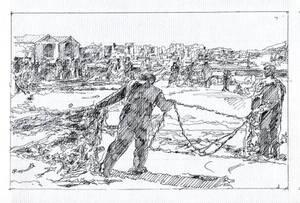 Fisherman's Net - Sketch no #008 by tutanvaly