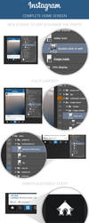 FREE Instagram Home Screen PSD Layout by MarinaD