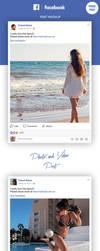 FREE Facebook Post Mockup by MarinaD