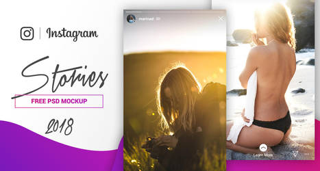 FREE PSD Instagram Stories Mockup 2018 by MarinaD