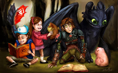 Where No Mystery Goes (HTTYD-Gravity Falls) by australet789