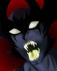 devilman amon by zoruu