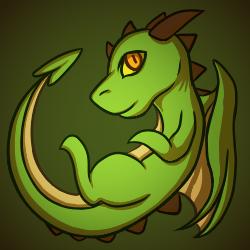 Green Dragon by zoruu