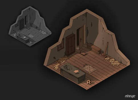 Isometric Room Study (FB upload) by nirryc