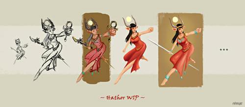 Hathor WIP by nirryc