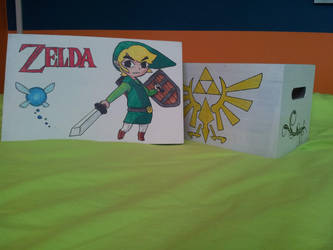 Wooden box with little Link: all drawings by FoofyCakez