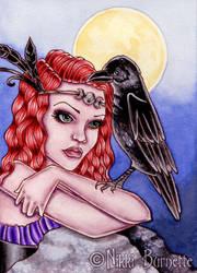 Portrait of Morrigane by Aurella