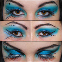 Blue Cyber Goth by Kritschie