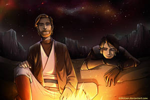 Obi wan - Anakin by Kibbitzer