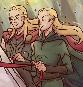 Thor-The Hobbit: Pretty Princesses by Kibbitzer