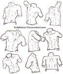 Male Torso Reference Sheet 2 by Kibbitzer