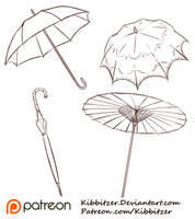 Umbrellas Reference Sheet by Kibbitzer