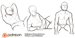 Male poses reference sheet 1 by Kibbitzer