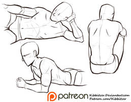 Male poses reference sheet 2 by Kibbitzer