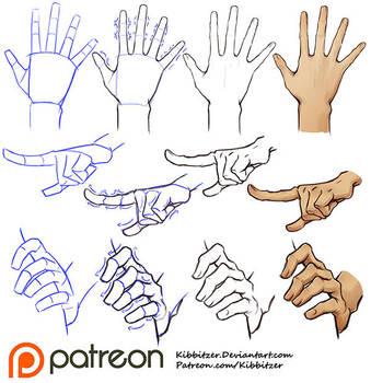 Hands tutorial by Kibbitzer