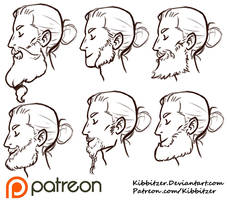 Beards reference sheet by Kibbitzer