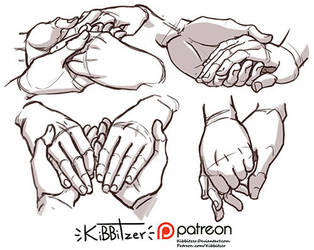 Hands reference sheet 12 by Kibbitzer