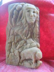 Stone carving By Roy Bramlett by SKIPPY814