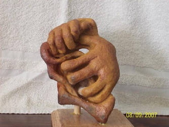 Hands of stone  Rock carving By Roy Bramlett by SKIPPY814