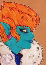 Princess Snake Sketch by Idlewings