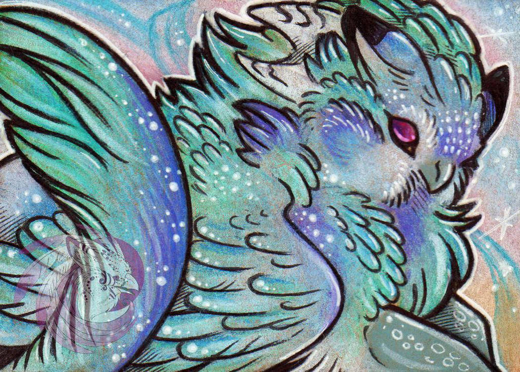 Spectral Gryphon ACEO by Idlewings