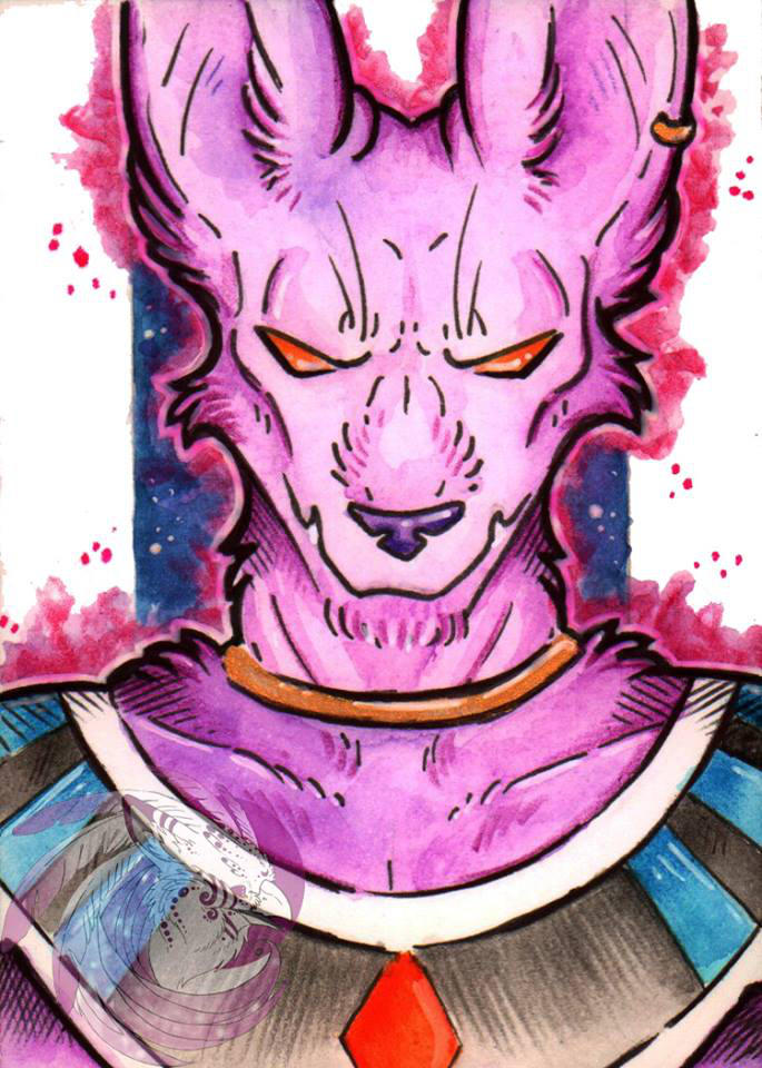 Beerus the destroyer ACEO by Idlewings