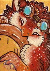 Time Thief ACEO by Idlewings