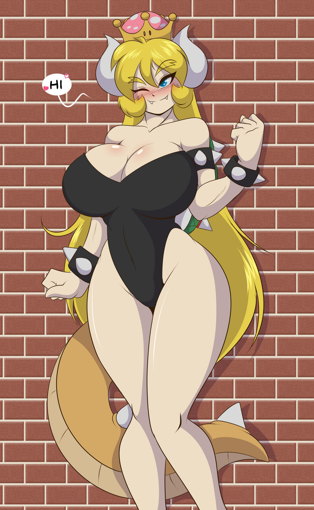 Bowsette on the Scene by Mastergodai