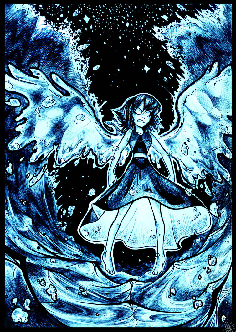 """""""YOU KNEW I WAS IN THERE..."""" OH BOY! this kinda took forever XD hahahah the stars by hand are brutal DX but none the less :> SO yeah this is Lapis Lazuli from Steven Universe, the awesome ..."""