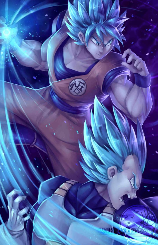 Goku and Vegeta blue! by WalkingMelonsAAA