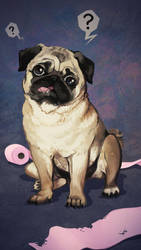 Derpy pug is derpy by hadh