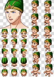 Rpg Maker MV Character Generator Parts Green Hat2 by cangyu2004