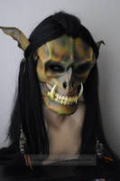 Leather Orc mask by ParkersandQuinn
