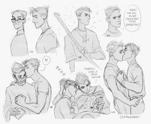 Percy and Oliver by Natello
