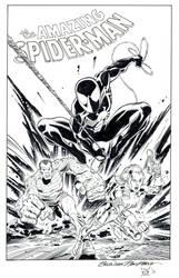 Spider-Man Silver Sable Sandman by kwill916