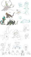 SketchDump: Corrupted, Chimeras, Royalty and Stuff by Dream-Piper
