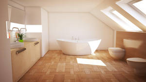 Cinema 4D -- Bathroom ver. I by SMOKEYoriginalHD