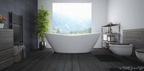 Cinema 4D -- Bathroom by SMOKEYoriginalHD