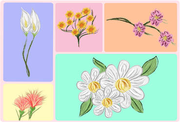 Pintura Florais by LaraGarciaXX